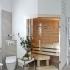 Badezimmer Sauna, abgeschrägt - Verglasung über Eck