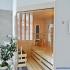 Badezimmer Sauna, abgeschrägt - Verglasung über Eck - Ansicht von rechts