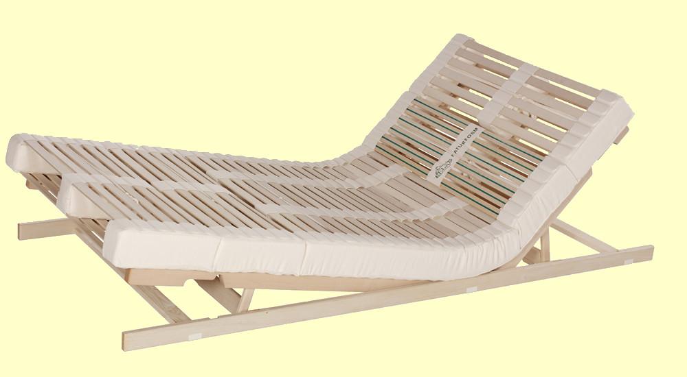 Lattenrost, Lamellenrost Relax Naturform - Sitz- und Fußhochstellung