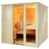 Massivholz Sauna mit Glaselement