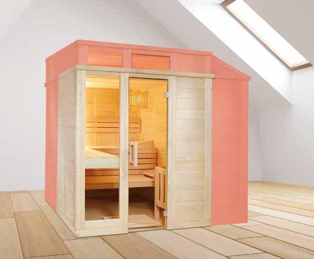 Massivholz Sauna - Sonderanfertigung