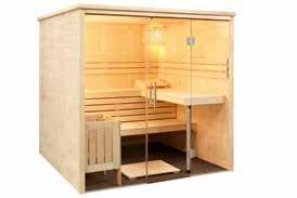 Massivholz Sauna - Maßanfertigung - Glasfront