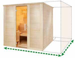Massivholz Sauna - Maßanfertigung - Sondermaß