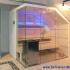 Dachschräge Sauna - Glassauna unter der Mansarde - LED, blau