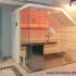 Dachschräge Sauna - Glassauna unter der Mansarde - LED, orange