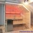 Dachschräge Sauna - Glassauna unter der Mansarde - LED, rotn
