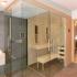 Glassauna mit Dusche