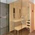 Glassauna mit Dusche - Außenansicht