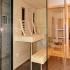 Glassauna mit Dusche - Sauna