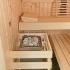 Sauna im Badezimmer mit Eckeinstieg - Saunaofen