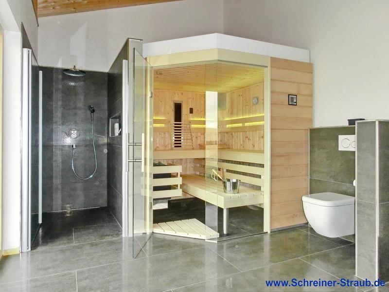 sauna im badezimmer interior design und m bel ideen. Black Bedroom Furniture Sets. Home Design Ideas