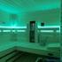 Infrarotsauna mit Steinwand - LED-Beleuchtung