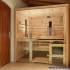 Zirbenholz-Sauna mit Glasfront