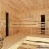Zirbenholz-Sauna mit Glasfront - Einrichtung, Infrarotstrahler
