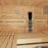 Zirbenholz-Sauna mit Glasfront - Einrichtung