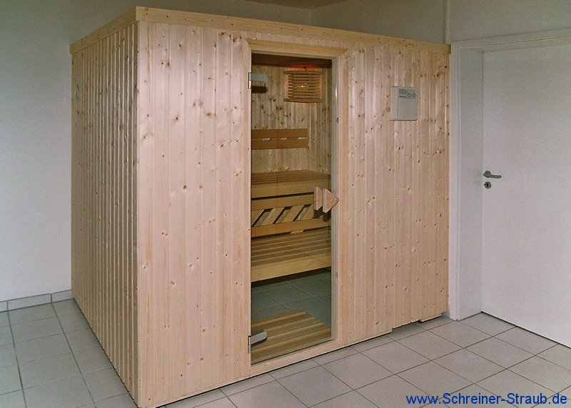 basis sauna fichte auenansicht - Dusche Mauern Hohe