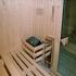 Basis-Sauna - Fichte - Inneneinrichtung mit Saunaofen