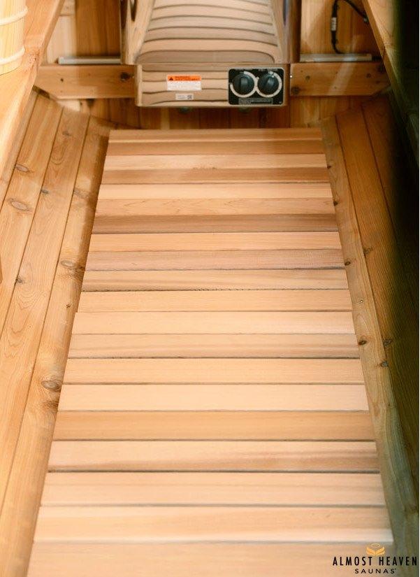 Fass-Sauna - Fußboden