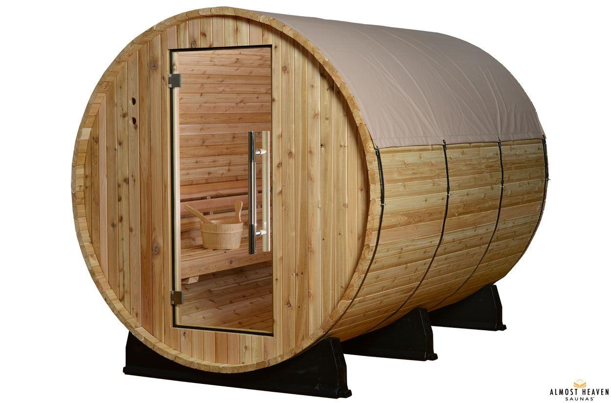 Fass-Sauna - Regenschutz