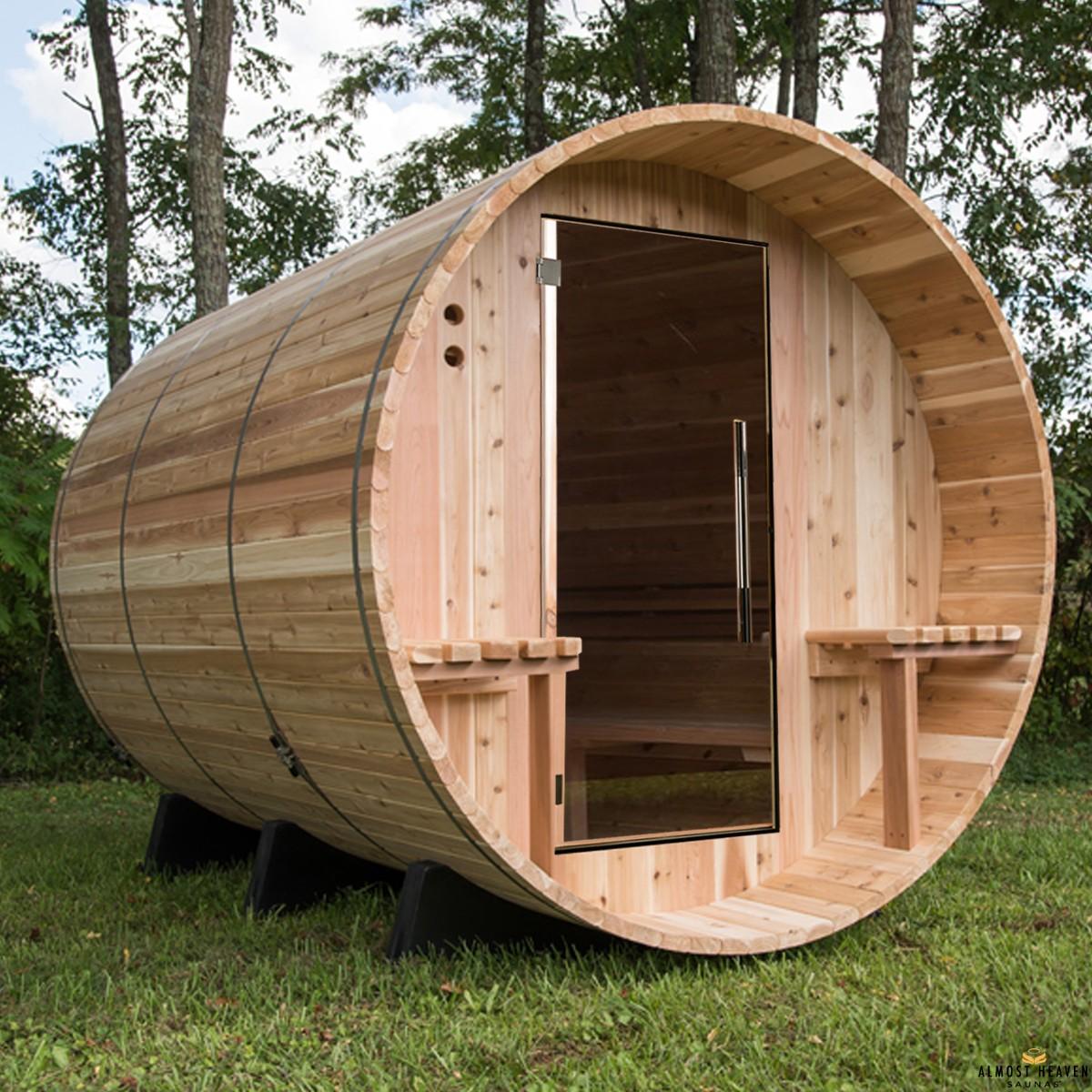 Fass-Sauna für 6 Personen