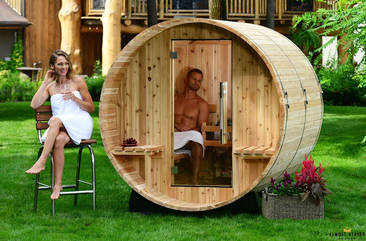 Fass-Sauna für 4 Personen