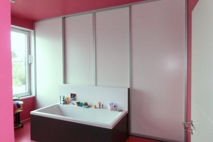 Raumteiler - Bad und Schlafzimmer - Badezimmerseite