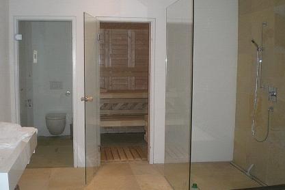 Badezimmer Sauna - Massivholz - Außenansicht