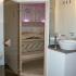 Badezimmer Sauna - Außenansicht, Einstieg geöffnet