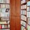 Wohnen - Großes Einbau-Bücherregal, Eckschrank