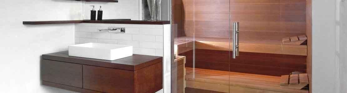 Badezimmer Sauna