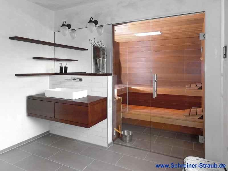 Einbausauna im bad schreiner straub for Mini badezimmer